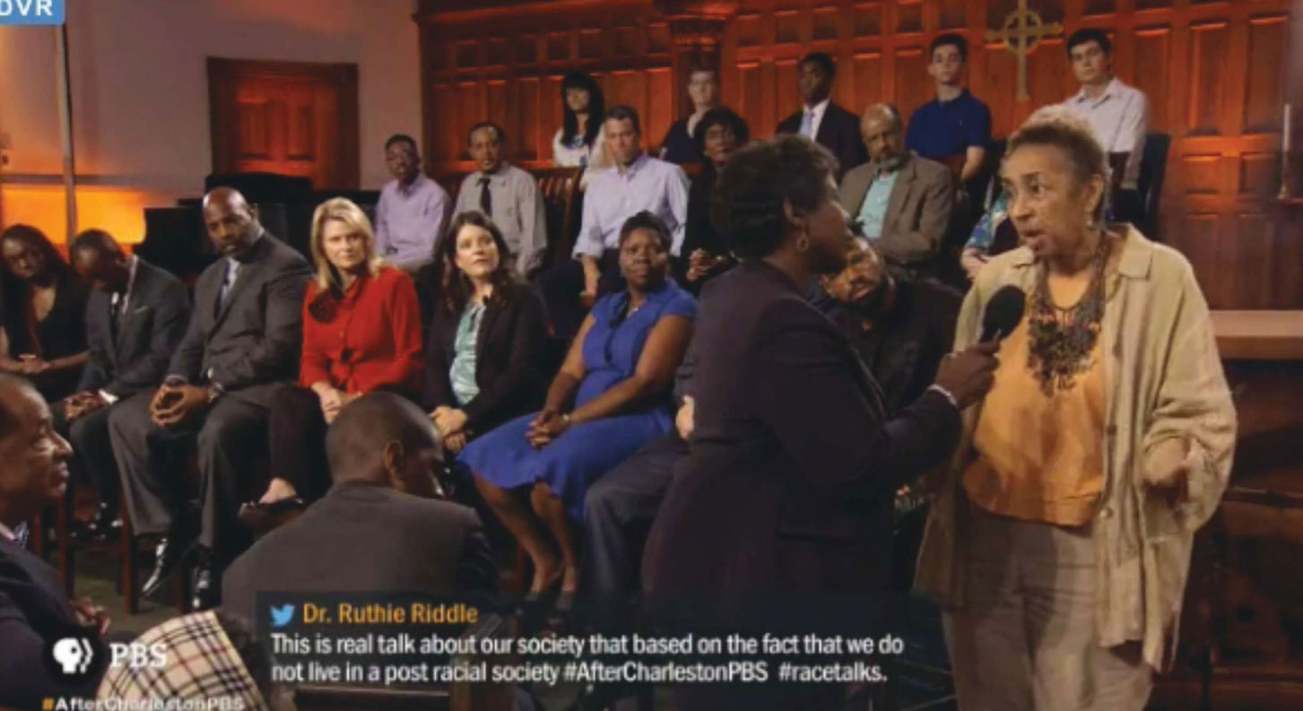 Speaking Up: Whether on national television, as in last fall's PBS NewsHour's taping at Circular Congregational Church, in a school board meeting, or talking with groups of local school children, Millicent Brown continues to shine a light on racism and injustice.