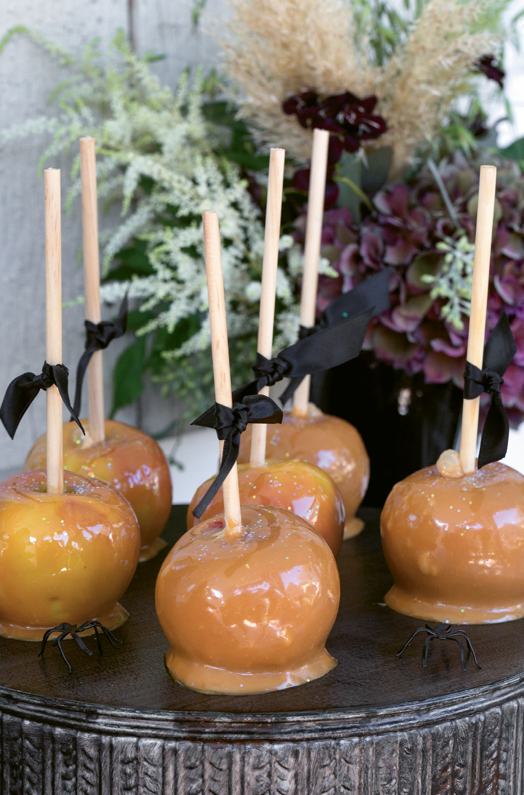 Caramel apples and candy rounded out the sweets.