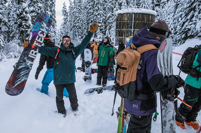 Snowboarders love the wild terrain.
