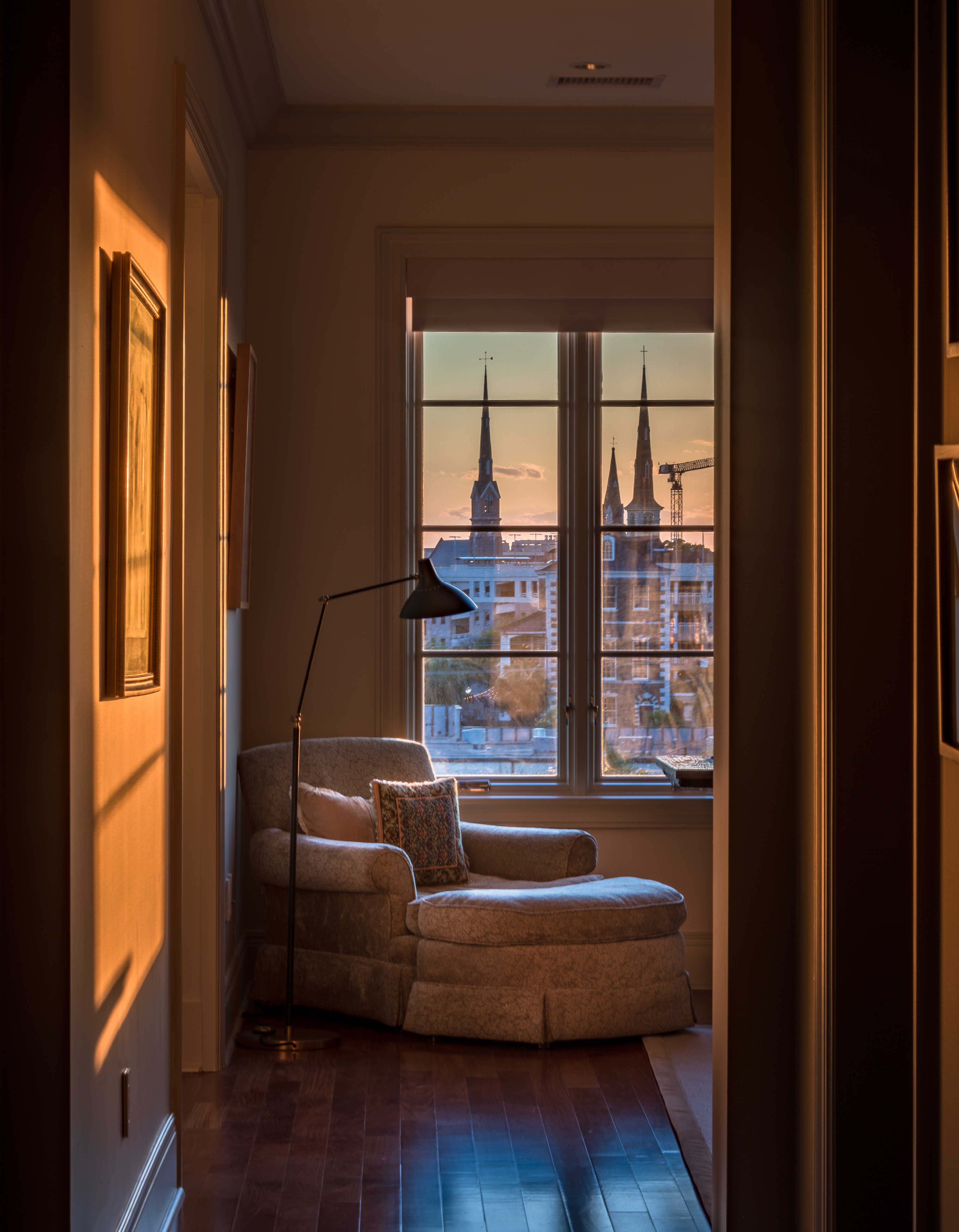 """FINALIST Professional category Holy City by Josh Corrigan; """" A view from the window of a newer Charleston residence showing just how many church spires can be found in one place!"""""""