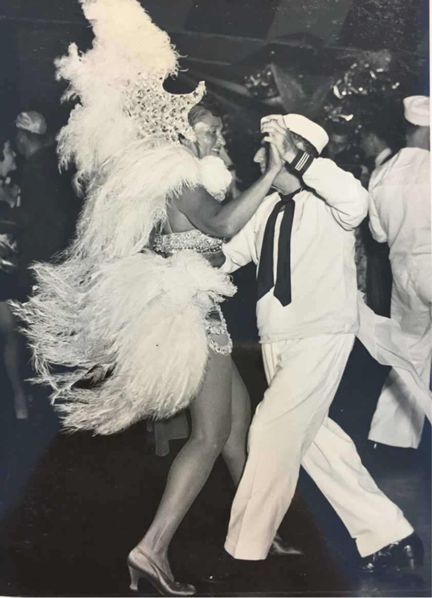 Gertie as a show girl, circa 1950