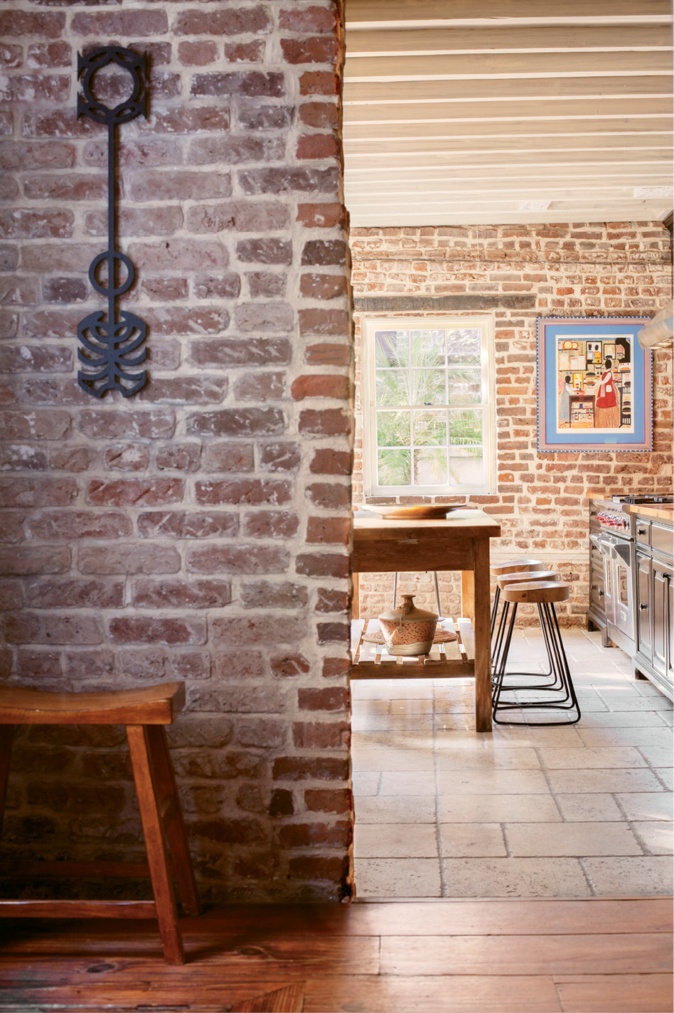 Now We're Cooking: Like many historical homes, the kitchen was originally separate from the main residence; a previous owner linked the two structures and added 21st-century comforts.