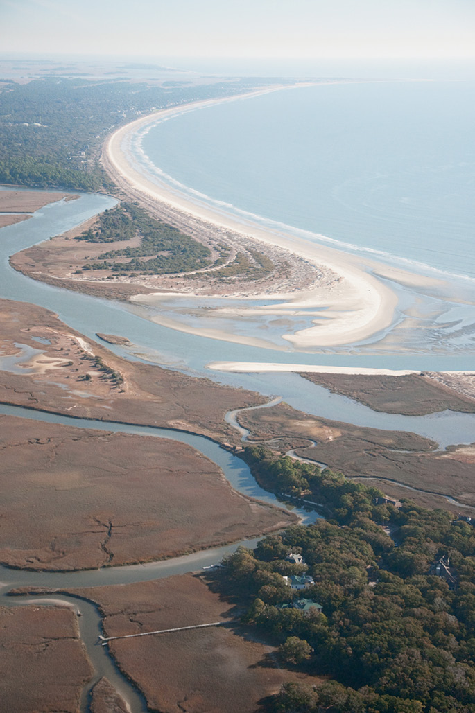 Kiawah's Captain Sam's Spit; image courtesy of Mary Edna Fraser