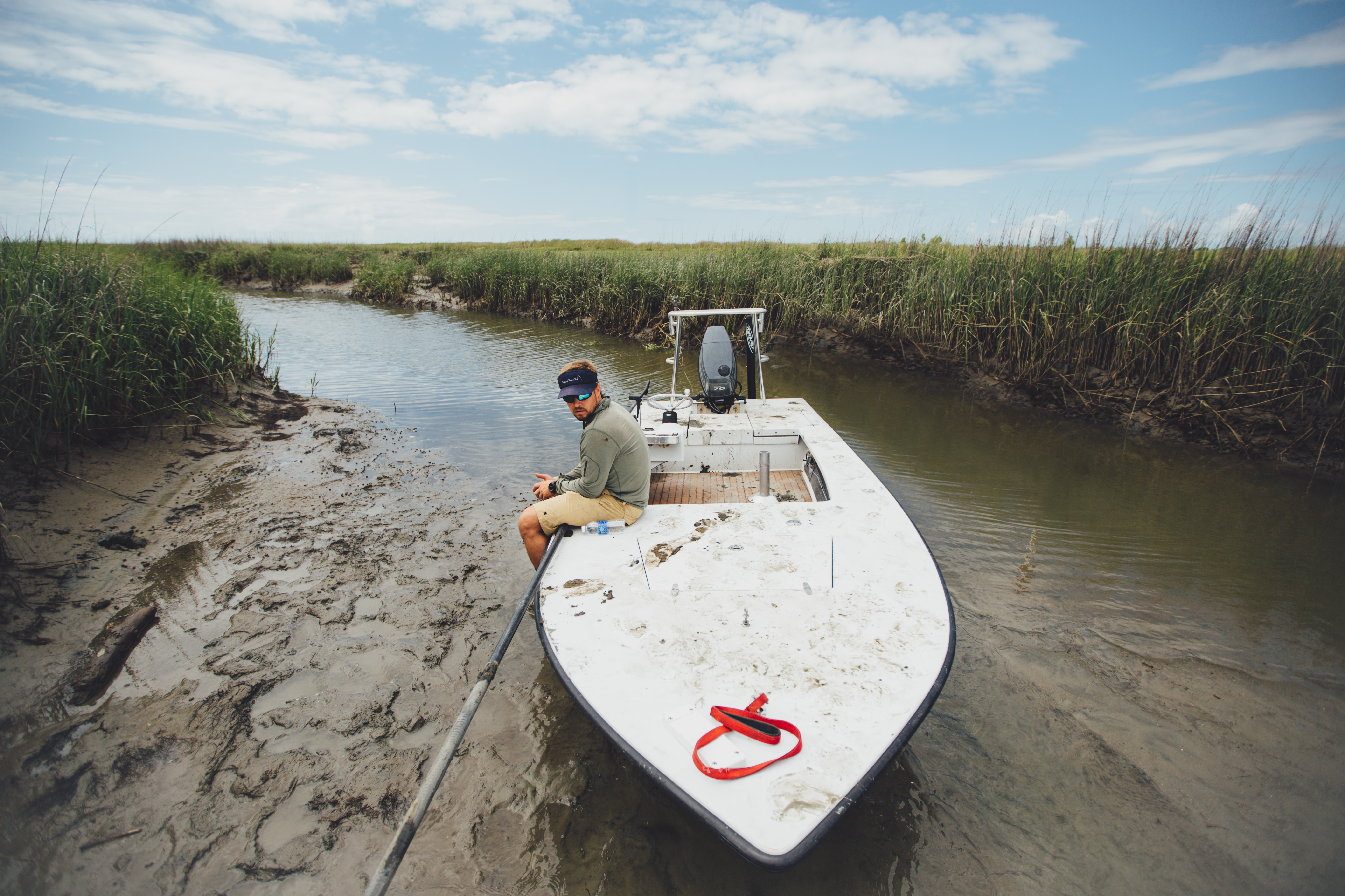 """FINALIST Professional category: Lowcountry Lowtide by  Jeremy Clark; """"Caught in a small lowcountry creek by the low tide. We may have missed a Friday staff meeting due to this snafu... Taken just north of Isle of Palms on May 29, 2015."""""""