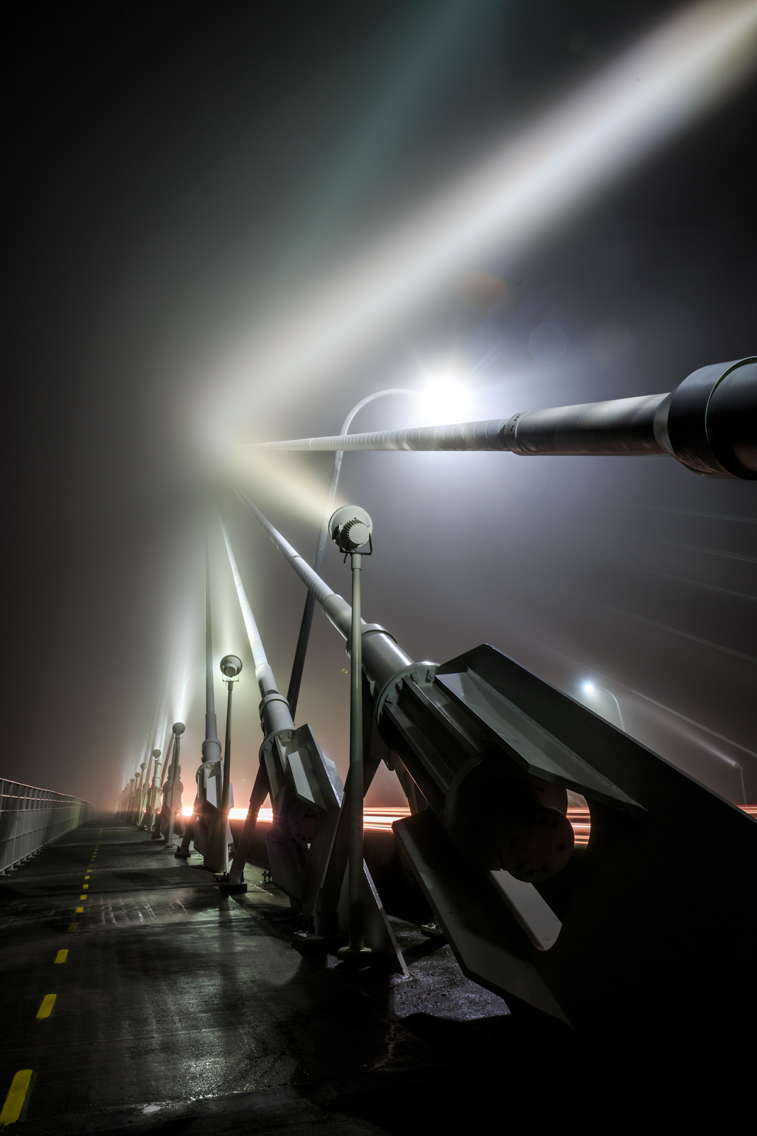 HONORABLE MENTION Professional category: Ravenel Bridge in the Mist by Justin Falk
