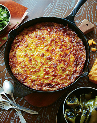 Green-Chile Corn Pudding | Charleston