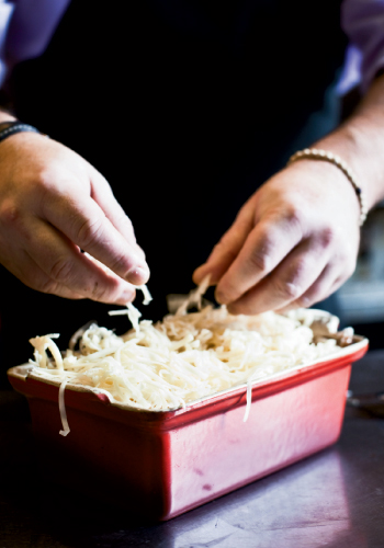 Au Gratin: Good Swiss cheeses create a tangy crust—a perfect accent to the smooth potatoes.