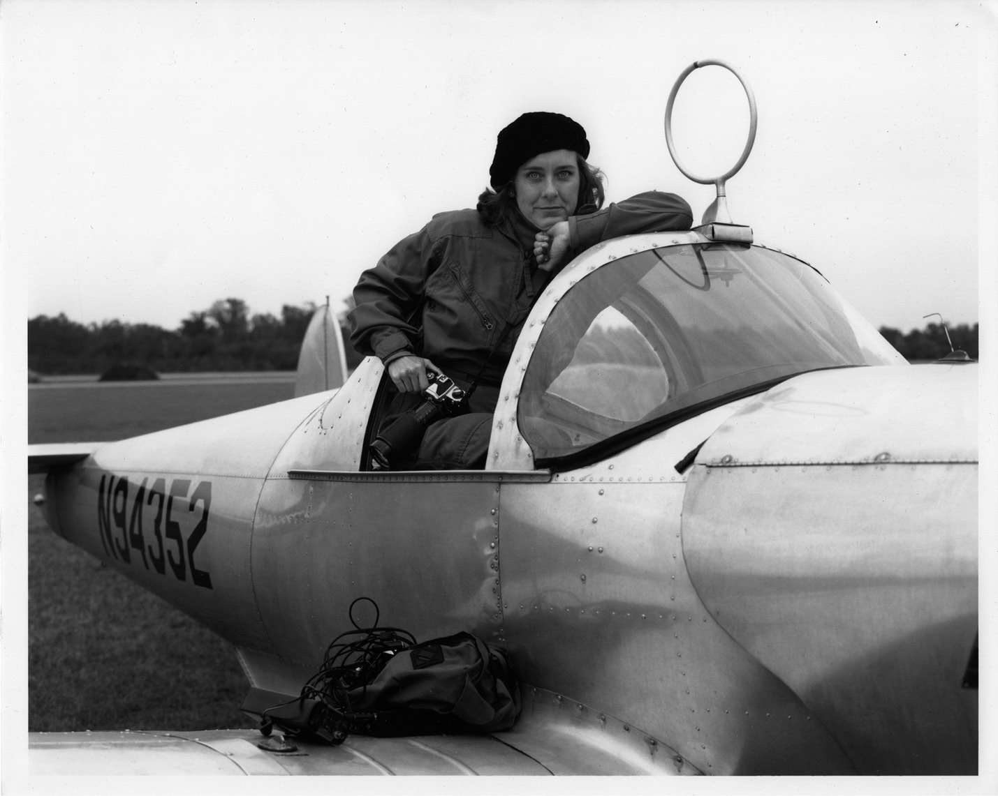 "Undaunted: ""If I don't get into a place I want to go, I go knock on another door,"" says the fearless Fraser, whose master pilot father took her flying in his 1946 Ercoupe; photograph courtesy of Mary Edna Fraser"