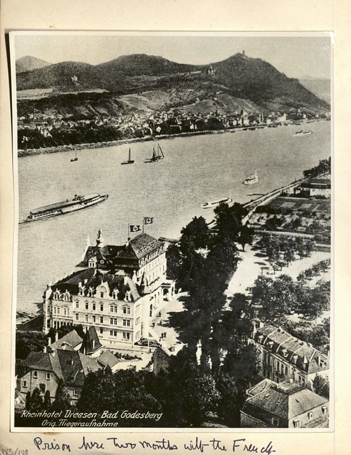 The Nazi-held resort, where she was imprisoned for two months with French officers.