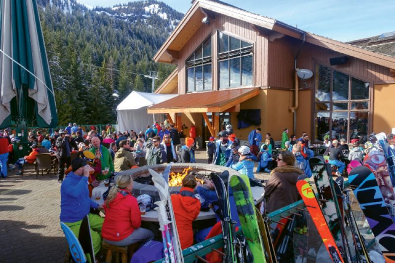 The lively après ski scene at Crystal
