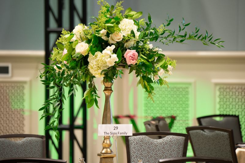 The Gaillard Center was all decked out for the elegant affair.