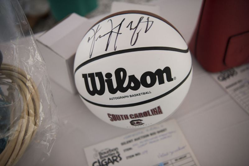 An autographed basketball up for auction