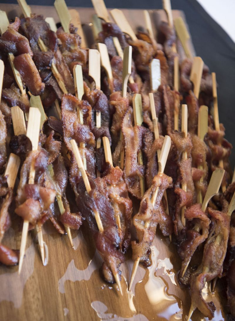 """Offerings at the """"Bacon Bar"""" were a highlight of the evening."""