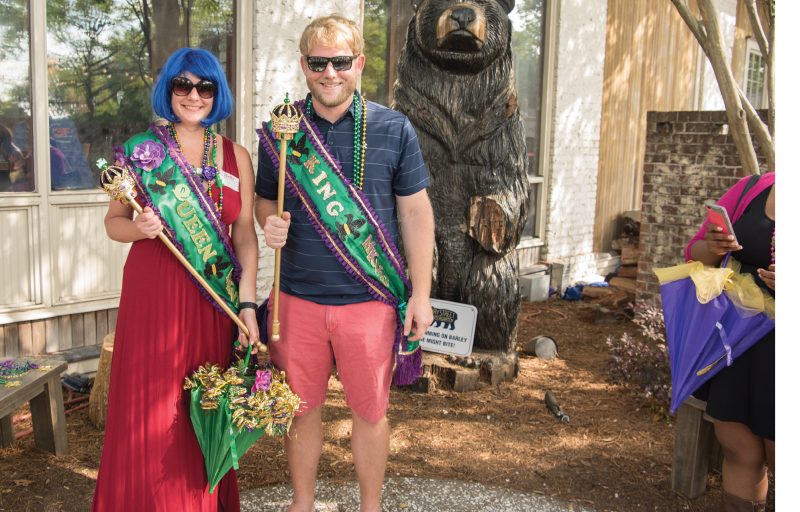 Kari Tippens and Austin Watson were crowned Queen and King of the Krewe.