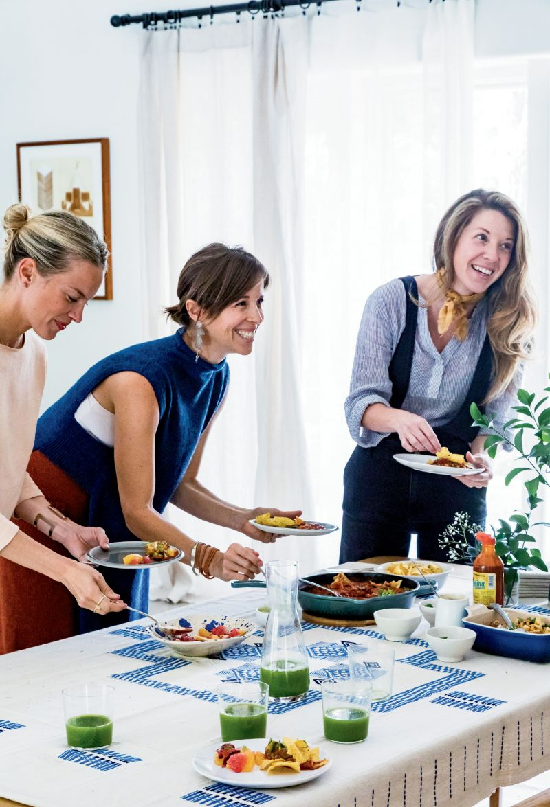 "(Left to right) Kate Towill, Harper Poe of Proud Mary, and Melissa Sutton of design firm Plum Collective are among the ""amazing creative women"" whom Jessica counts as friends."