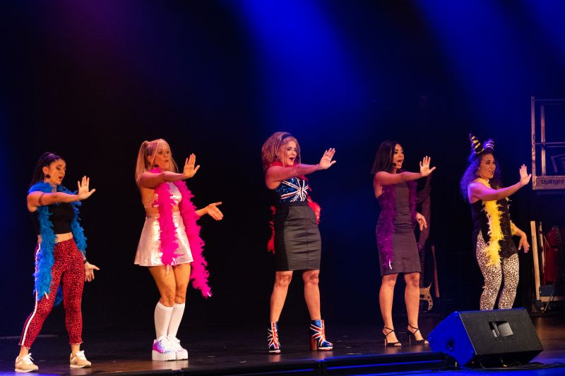 """The Spice Girls perform the group's classics, including """"Wannabe."""""""