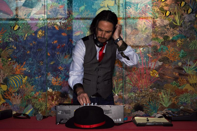 A DJ kept the party going, spinning lively tracks throughout the event.