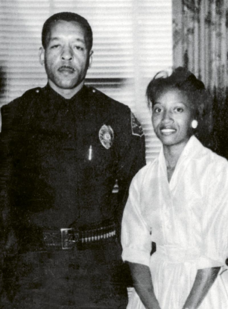 Johanna and husband James Carrington (top), who became Compton's chief of police, were leaders in numerous civic and church endeavors.