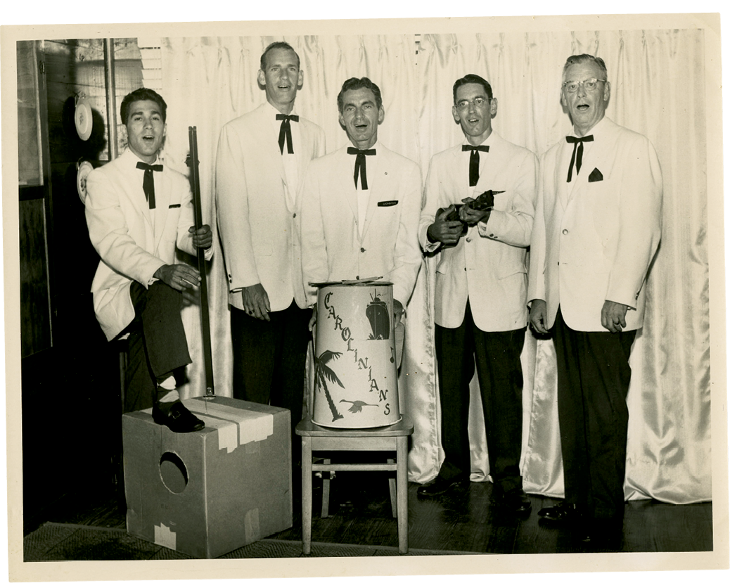 The musical quintet The Carolinians, with Leonard LaBrasca at left