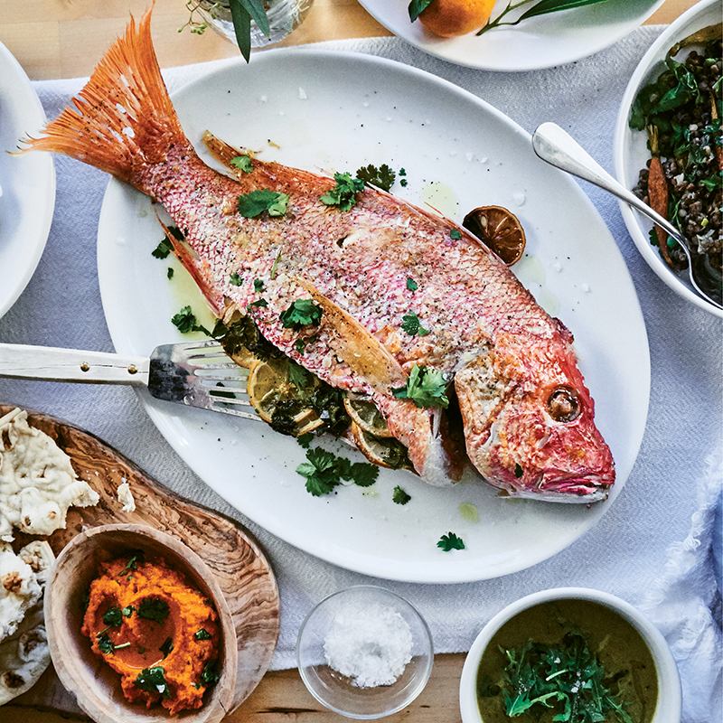 Whole Roasted Snapper