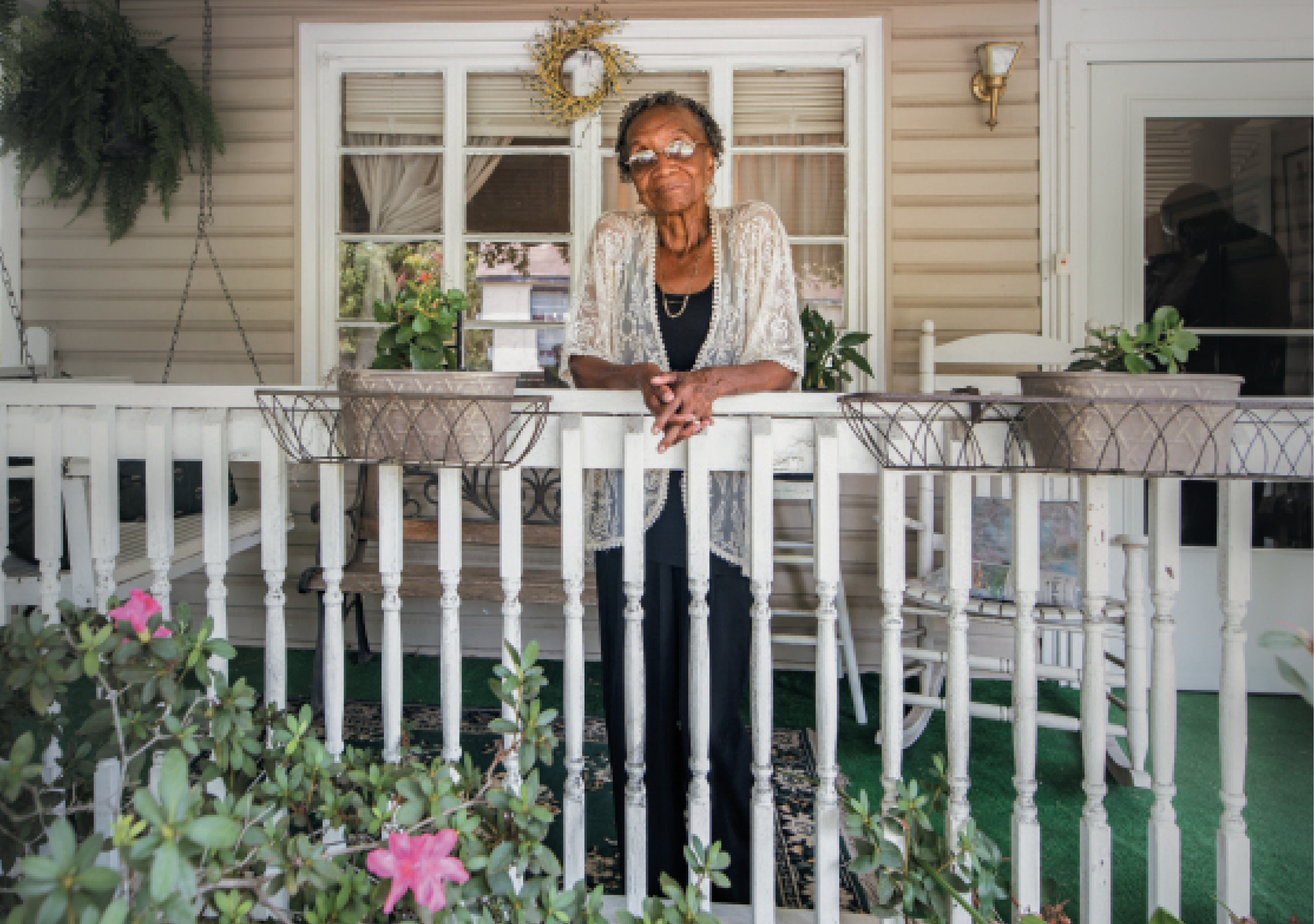 "Home Again: When she returned to Charleston from the West Coast, Martin-Carrington could have moved into an upscale neighborhood, but bought a house near her mother (who has since died) and not far from where she grew up. ""This is my home; it's where I want to create new opportunities and contribute,"" she says."