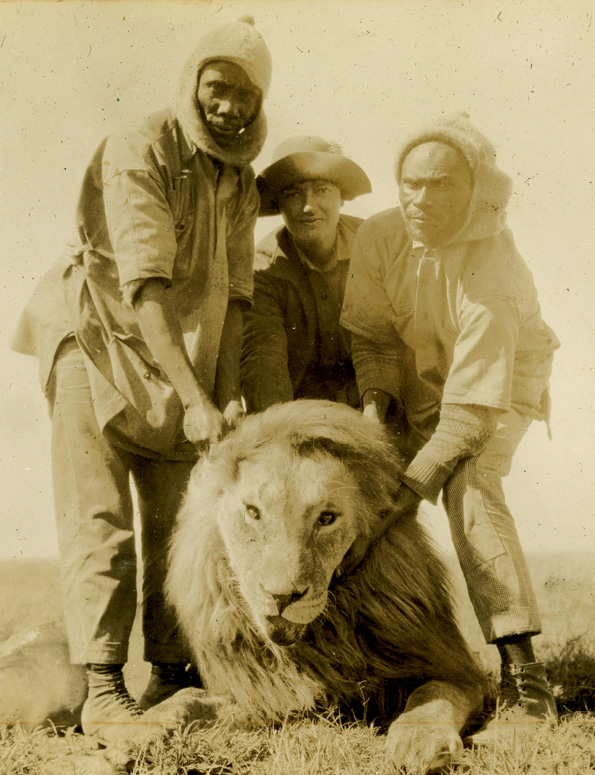 On safari in Kenya, 1927
