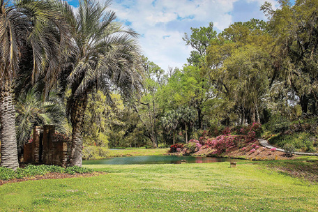 "Mepkin Plantation on the Cooper River, home of Revolutionary War statesman Henry Laurens, was purchased by magazine publisher Henry Luce and his wife, Clare Booth Luce, in 1936 as a winter hunting retreat. In 1949, the plantation was donated to the Trappist Order of Cistercians Monks. Today, we know this beautiful property as Mepkin Abbey. While it is an active monastery, portions of the plantation, including the extensive botanical gardens created by Mrs. Luce, are open to the public. <a href=""http://mepkinabbey.org/wordpress/"">http://mepkinabbey.org/wordpress/</a>"