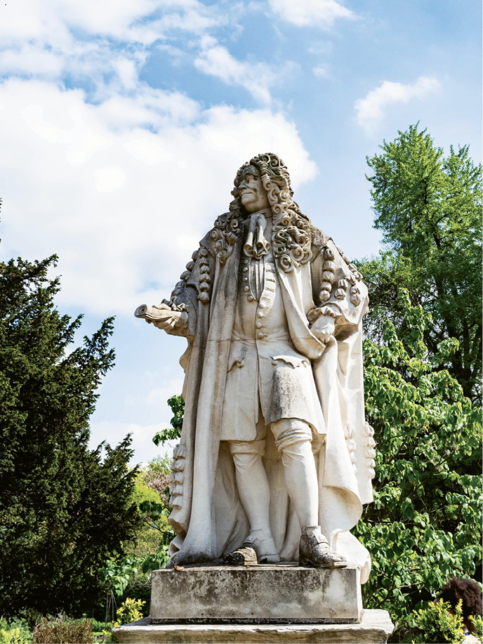 ...including a statue of doctor and plant collector Sir Hans Sloane.