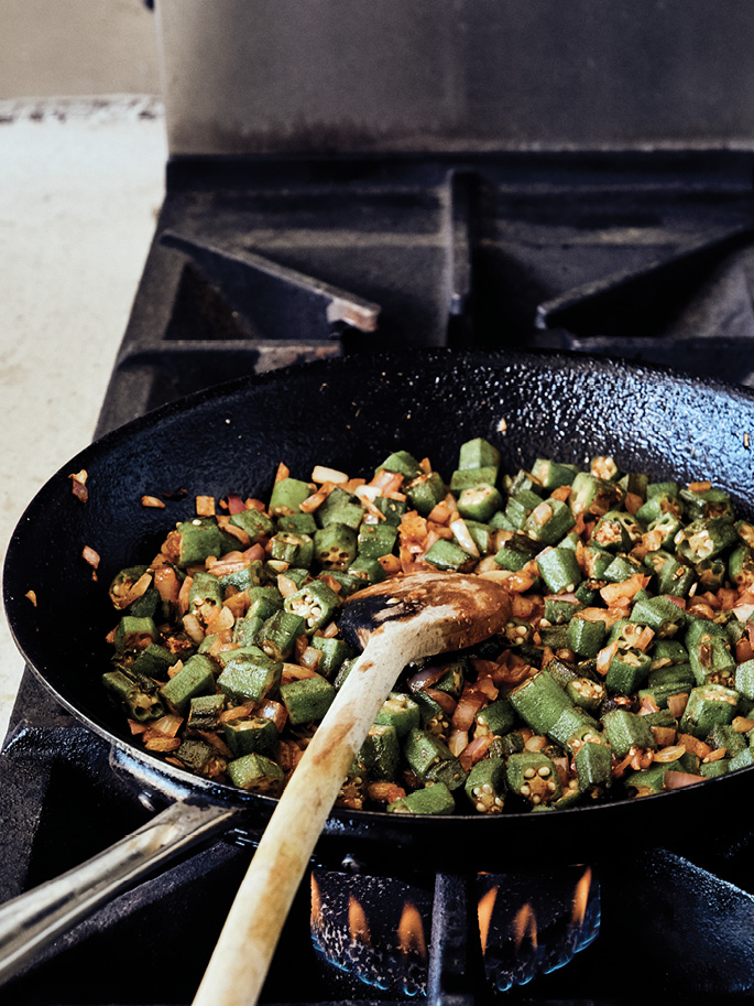 Crispy fried okra