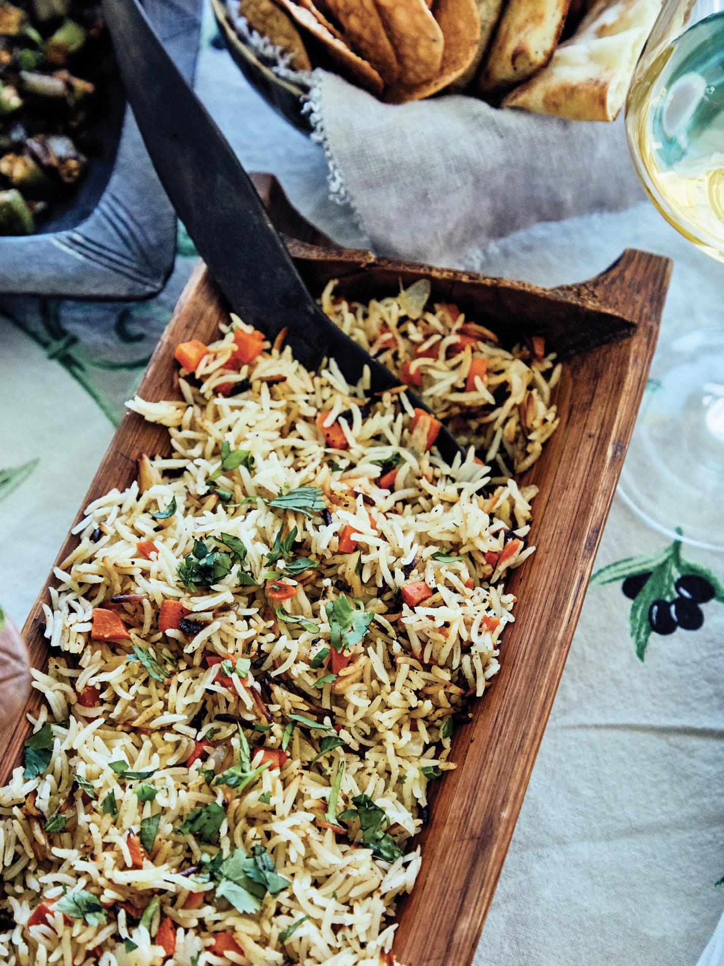 Basmati rice pilaf