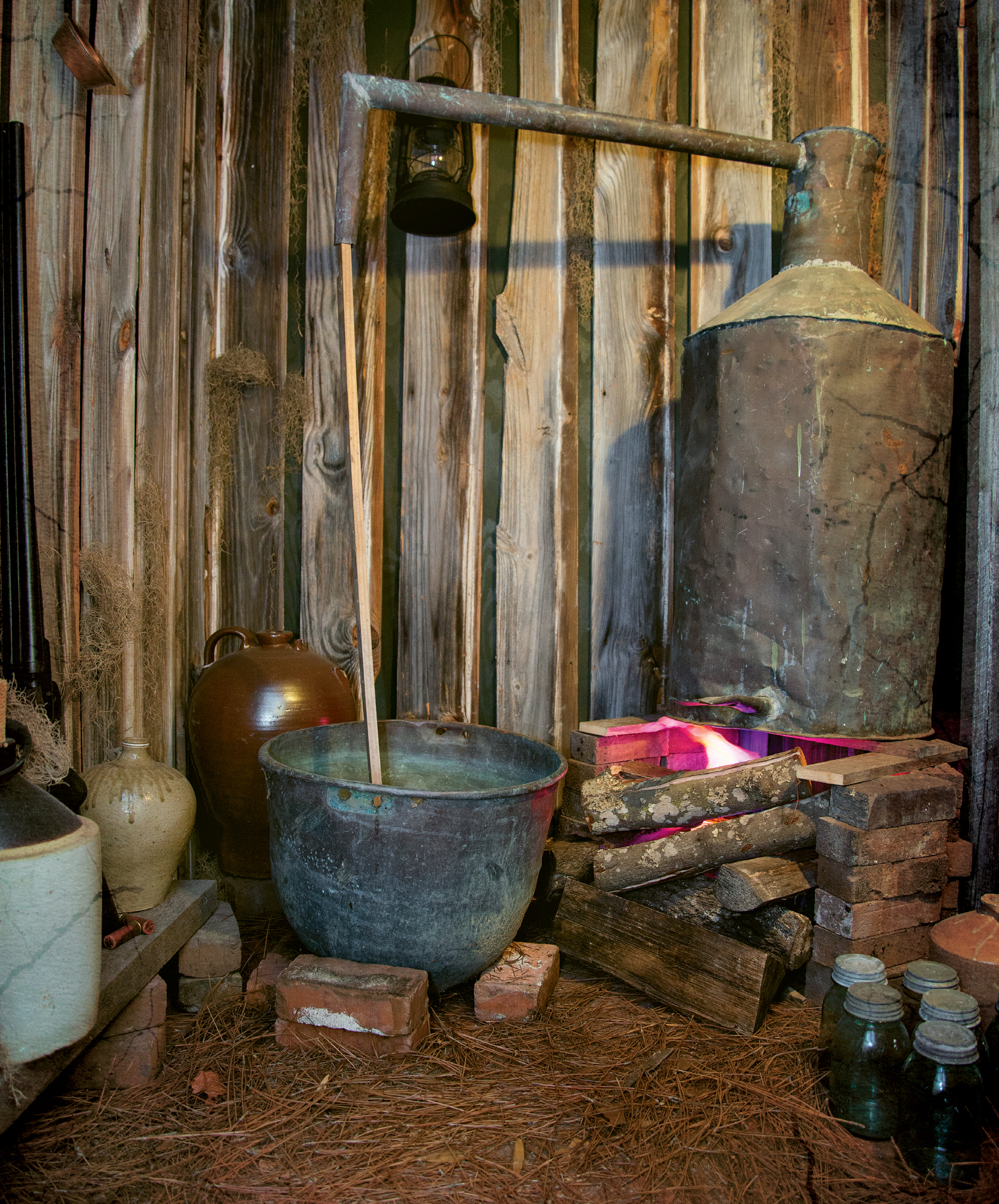A vignette of a former working still is on display at the Berkeley County Museum & Heritage Center in Moncks Corner.