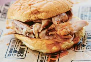 """Superlative Cue: """"Sam Jones's sandwiches in Greenville, NC. I'll eat two of them in a sitting."""""""