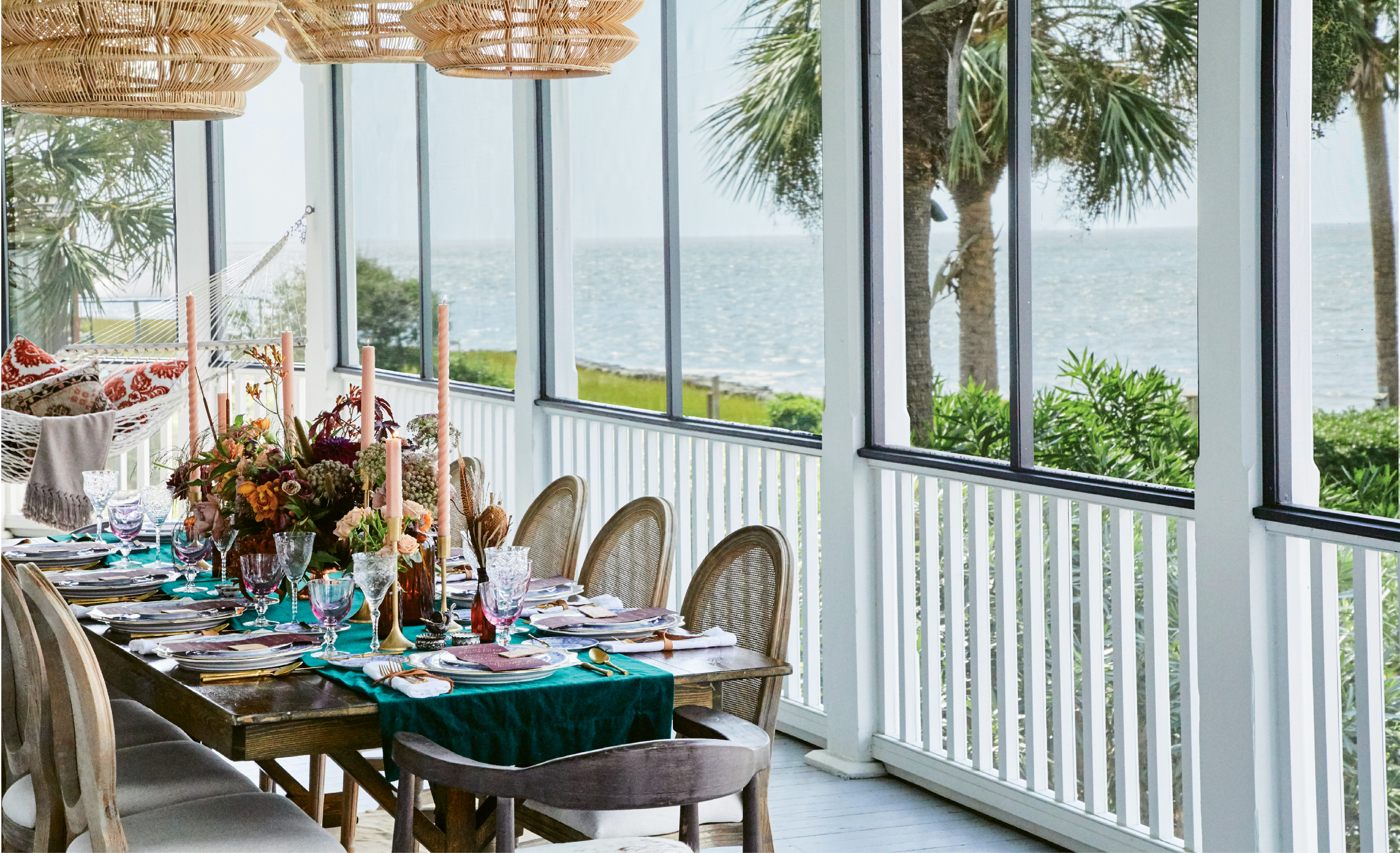 ...outfitted this porch on Sullivan's Island for the holidays.