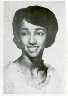 """Millicent (pictured in the 1966 Rivers High School yearbook) was mostly ostracized during her time there, saying in her oral history, """"The Rivers years... made me understand that you can survive when people don't like you. You can achieve when they don't want you. It just got me ready for the hard knocks of life."""""""