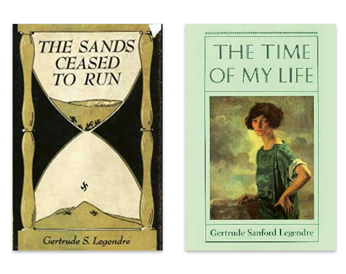 After the war, she wrote her first memoir, The Sands Ceased to Run (1947), followed by The Time of My Life in 1987.