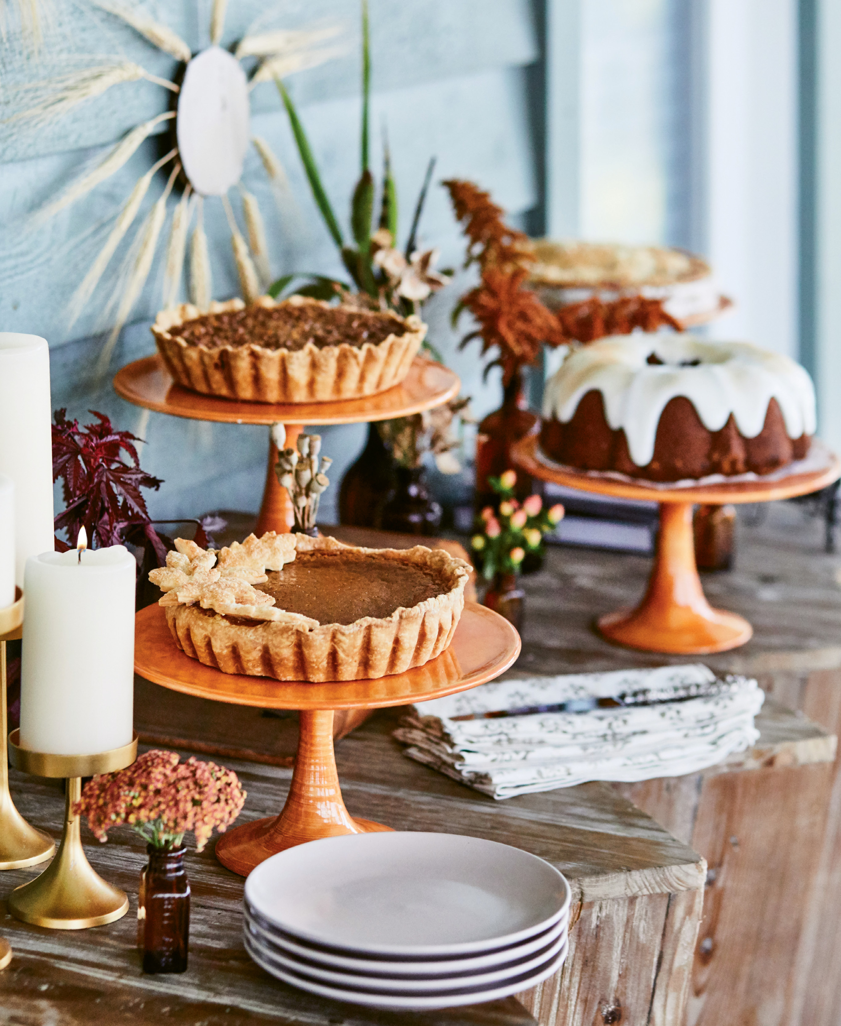 Lisa created a special dessert station and placed the confections at varying heights.