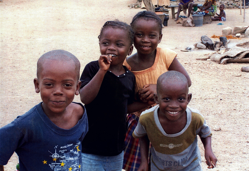 Despite ravishment from disease and wilting poverty, hope for Ghana is reflected in the smiles of its children.