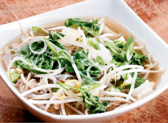 """Sweater Weather: """"I'm excited to make chicken pho again at Pink Bellies. We have a lot of requests for it, even in the summer."""""""