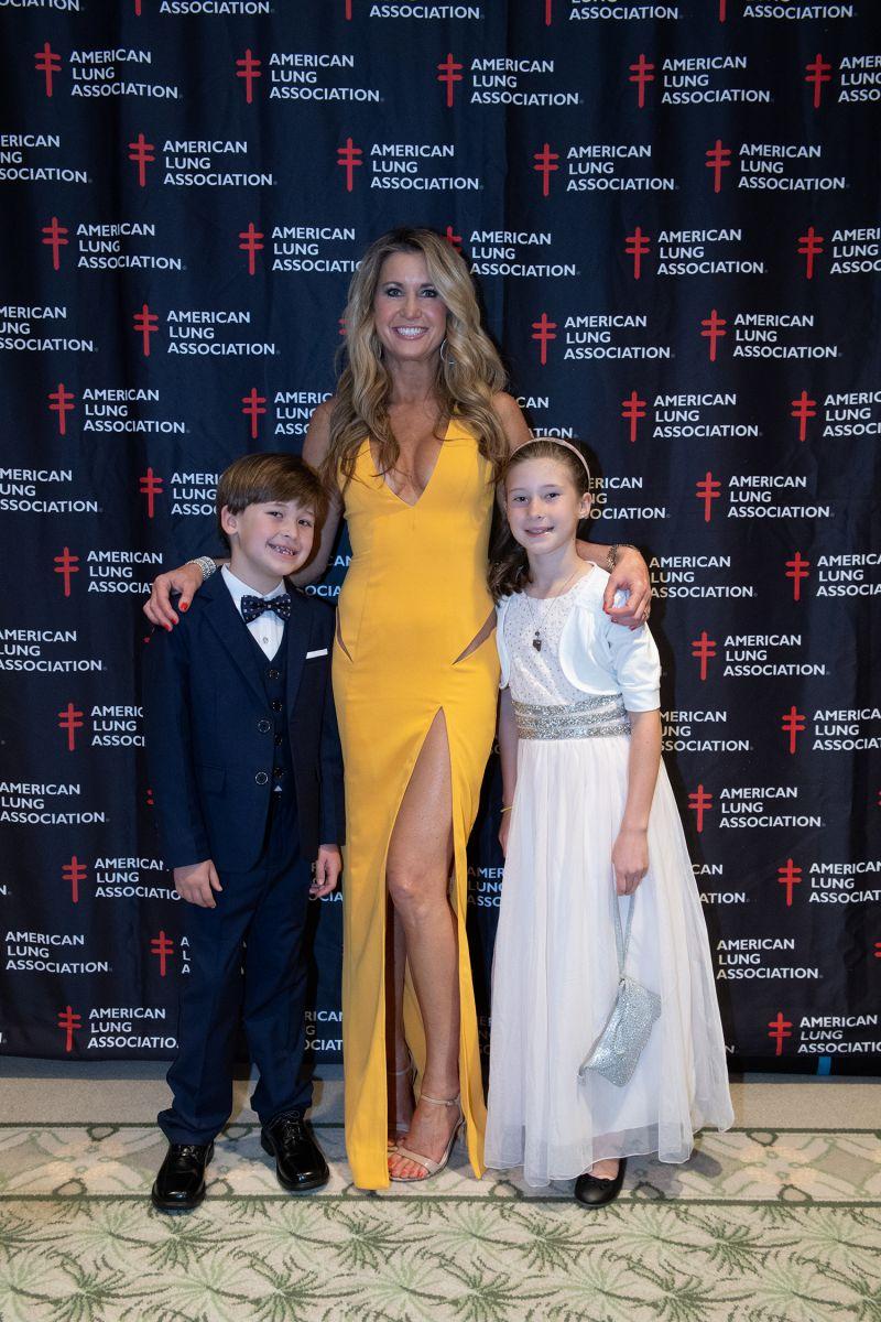 Celebrity dancer Reagan Ferguson and her children  