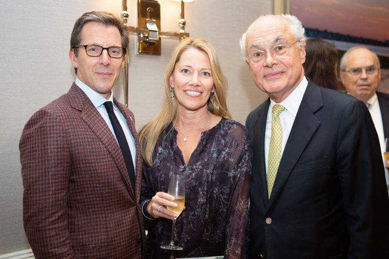 Spoleto Board Chair William Medich, Michele Seekings, and Festival General Director Nigel Redden