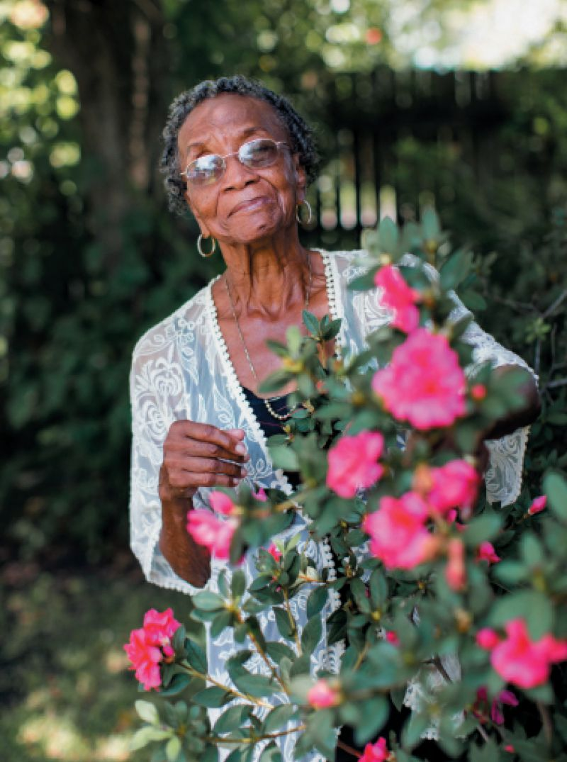 "The Grower: Martin-Carrington's nurturing expertise extends to her garden. ""She took cuttings from my wedding bouquet and somehow made them grow into plants,"" says her granddaughter Ashley Meader. ""She puts her hands into the dirt, and something different happens. There's a magic and energy about her that literally starts from the ground up. People are drawn to her, and plants too!"""