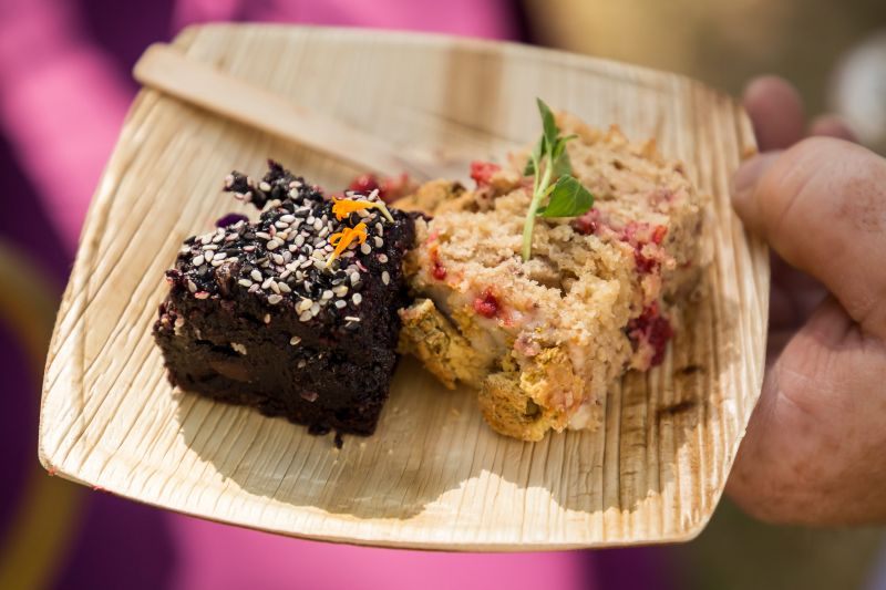 Chocolate Tahini Brownie and Strawberry Loaf Cake from Greer Gilchrist of The Harbinger