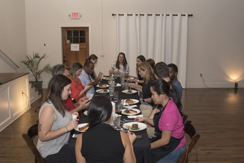 Club members gather to enjoy their creations.