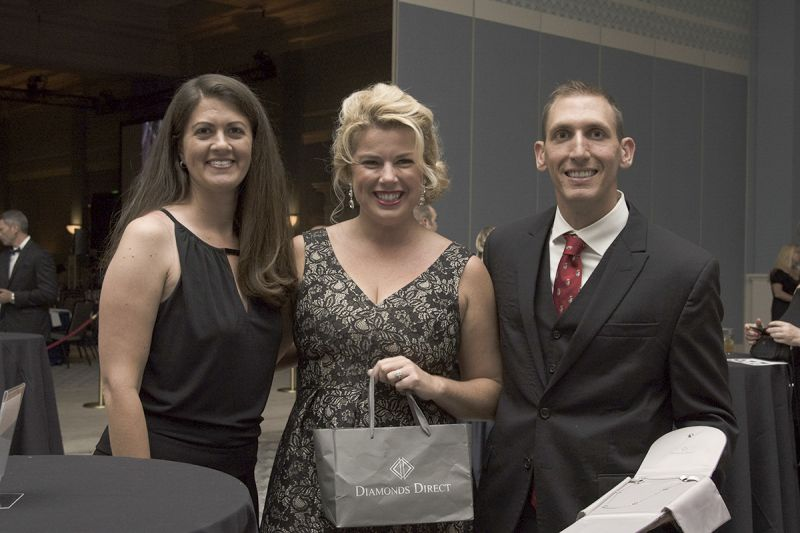 Renee Bauley with LOR volunteers Irene Rose Yereb and Zach Yereb