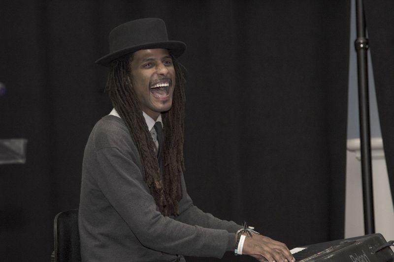 Keyboardist Nicholas Brewer of the Emerald Empire