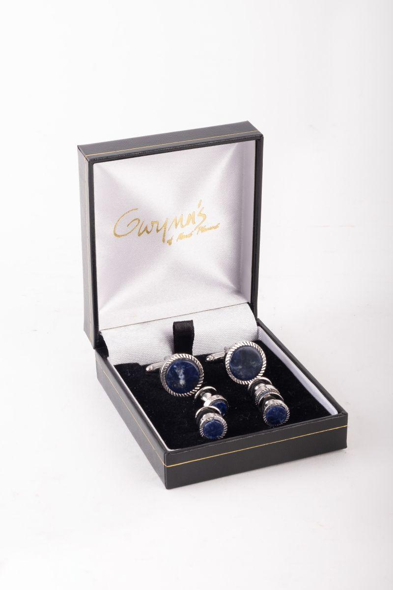 Jonathan Wachtel sodalite cufflinks, $225 at Gwynn's of Mount Pleasant