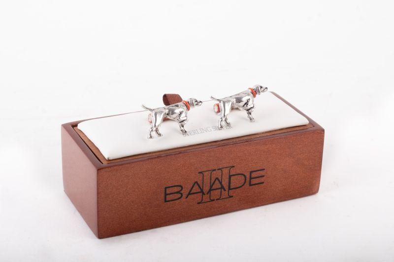 Baade sterling silver cufflinks, $425 at Grady Ervin & Co.