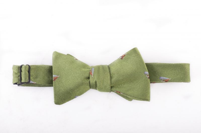 """Peter Blair silk """"Fish Fly"""" bow tie, $65 at Grady Ervin & Co."""
