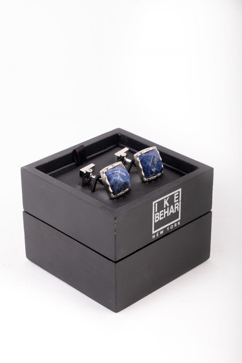 Ike Behar silver lappis cufflinks, $175 at Ike Behar