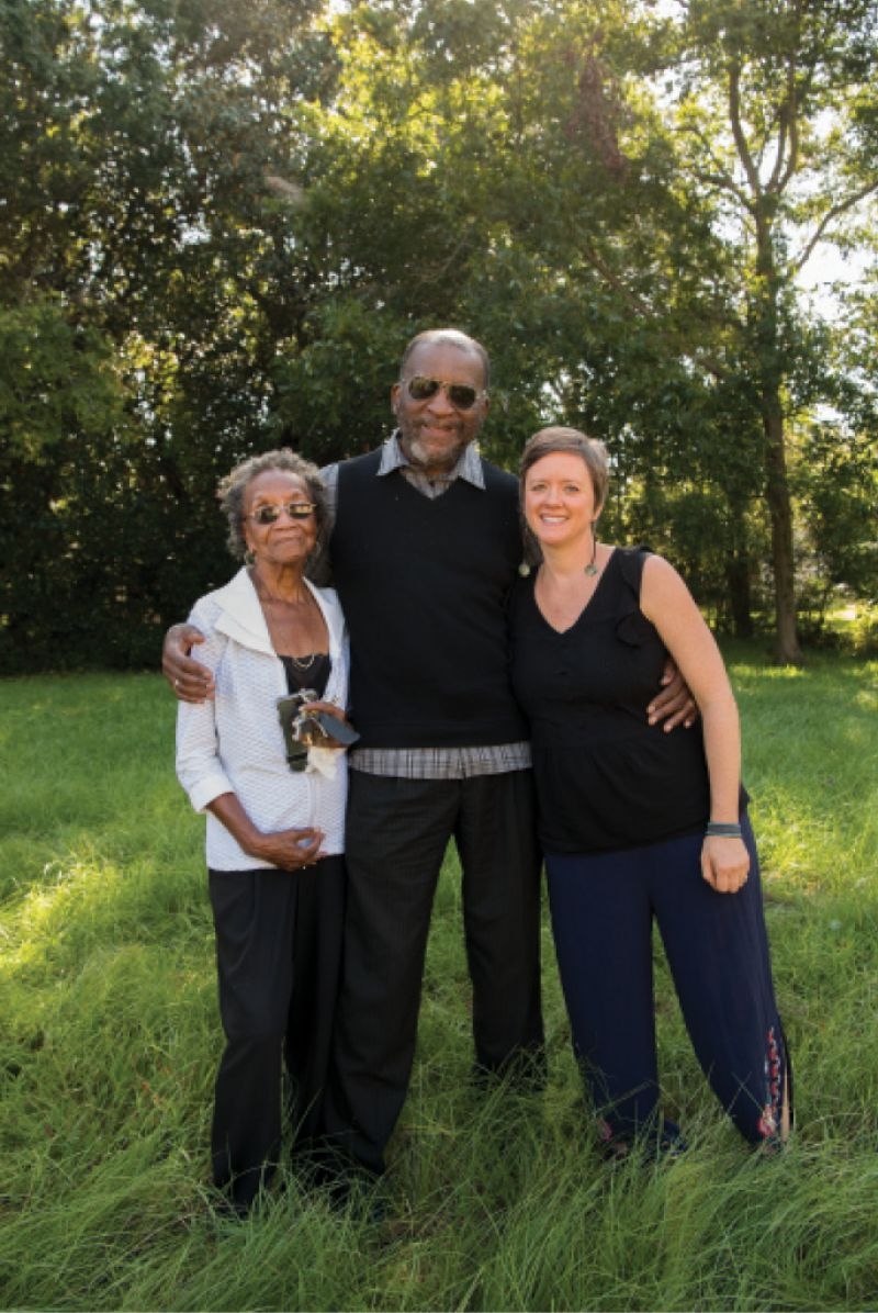 With April Magill and Rev. Edwin McClain